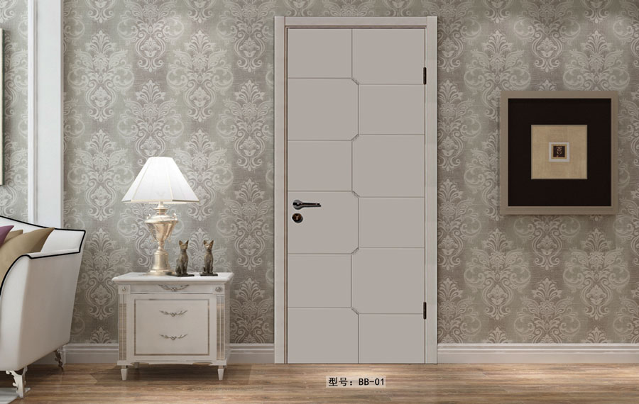 盼盼實木復合烤漆門BB01|室內門