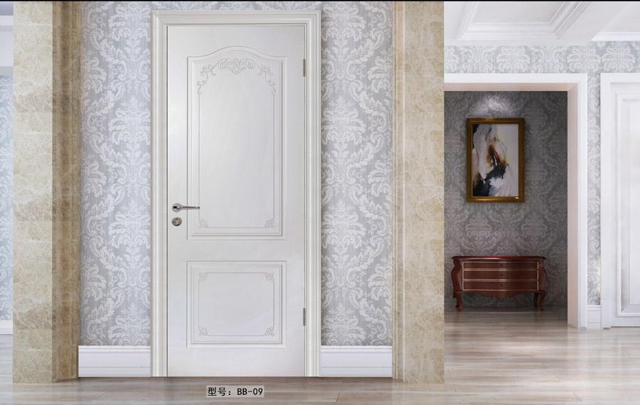 盼盼實木復合烤漆門BB09|室內門