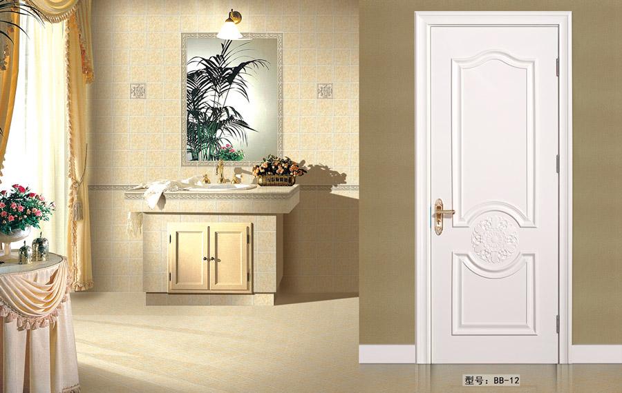 盼盼實木復合烤漆門BB12|室內門