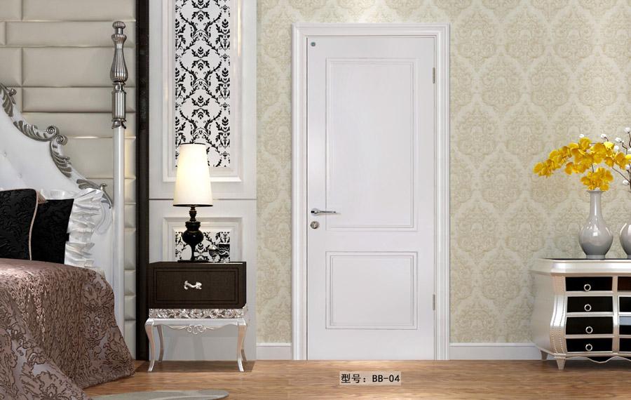 盼盼實木復合烤漆門BB04|室內門