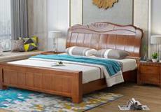 橡胶木实木双人床